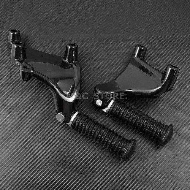 Tył motocykla podnóżki dla pasażera kołki zamontuj czarny pedał dla Harley Sportster Iron 883 1200 XL 48 72 SuperLow 2014-2019