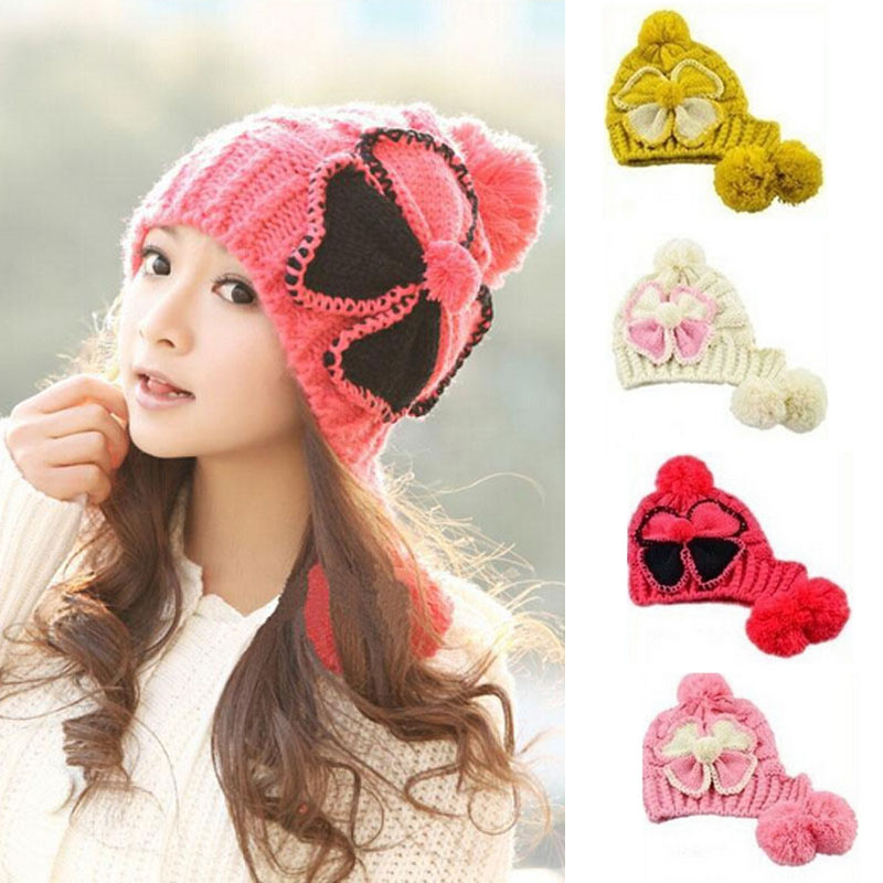 New Women Ladies Winter Warm Knitted Beret Hat Crochet Slouch Baggy Beanie Cap 2017 new women ladies cable knitted winter hats bonnet femme cotton slouch baggy cap crochet beanie gorros hat for women