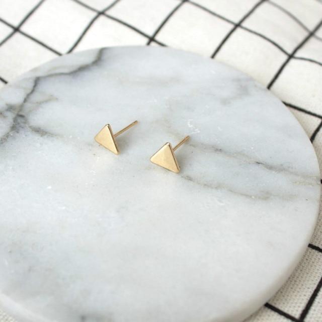Fashion Jewelry Earrings Simple Mini Triangle Earrings For Women Gift Small Blac