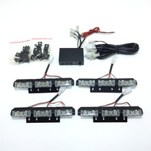 4x9 LED Flash Emergency Car Strobe Lights Yellow Automotive Explosive Car Front Grille Deck Strobe Flashing Lamp