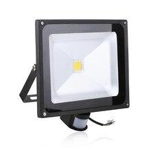 2 unids 50 W 4500LM LED Sensor de Luz de Inundación luces IP65 AC 85-265 V Proyector Led Refletor Reflector projecteur Llevó la iluminación al aire libre