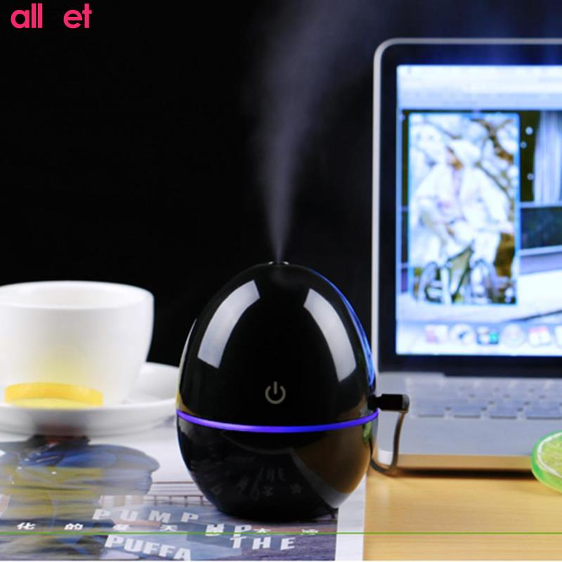 200ml USB Egg Ultrasonic Aromatherapy Vehicle Essential Oil Diffuser LED Lights Ultrasonic Cool Mist Aroma Air Humidifier