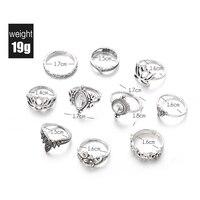 10pcs/Set Vintage Bohemian Ring Set (Less than 1$ each) 3