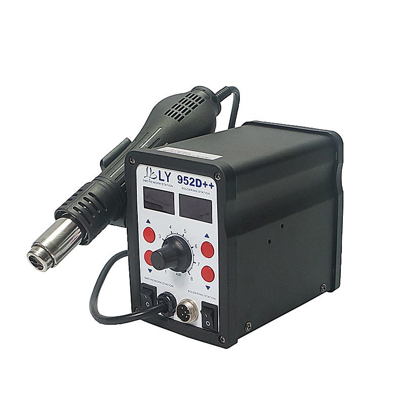 auto sleep function big power smart LY 952D++ dual led solder station