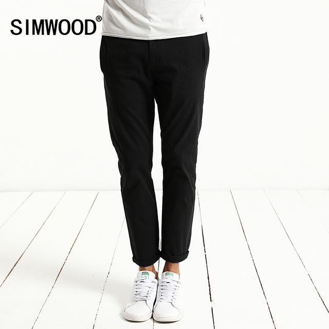 SIMWOOD 2017 Spring Summer Ankle-Length Pants  Men Casual Thin  Trousers Fashion Slim Fit KX5553