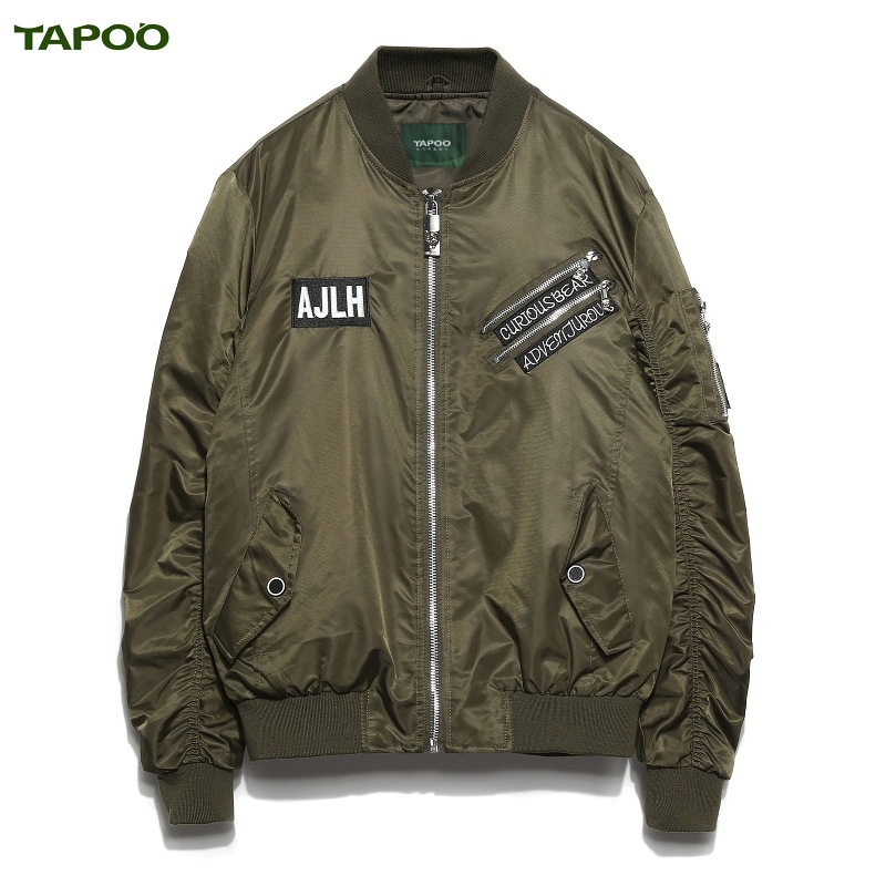 TAPOO autumn and winnter new casual jacket coat with 3XL 4Colors available in stock