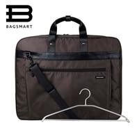 2016 Lightweight Black Nylon Business Dress Garment Bag With Handle Clamp Waterproof Suit Bag Durable Men
