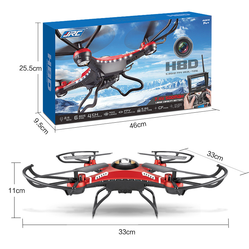 JJRC-H8D-2-4Ghz-5-8G-FPV-RC-Quadcopter-Drone-with-2MP-Camera-FPV-Monitor-Display