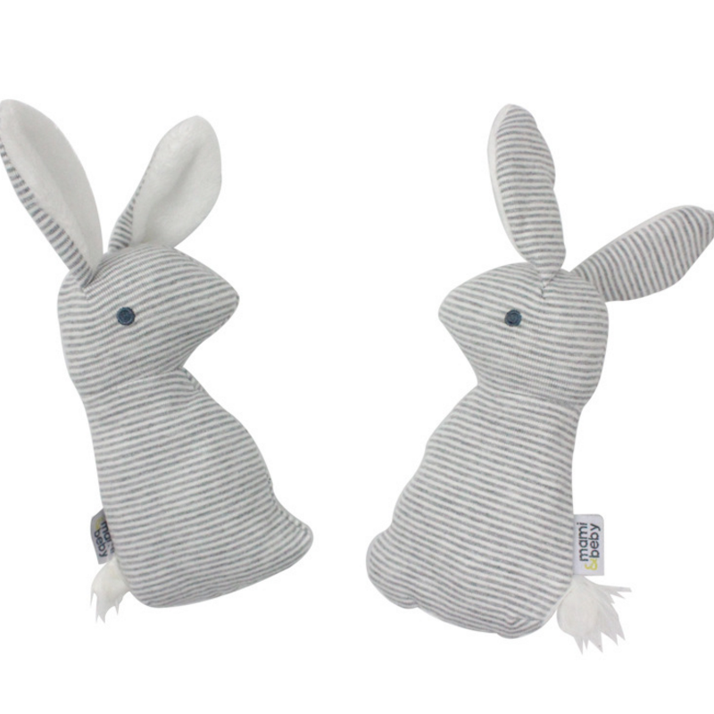 1 Pcs Cute 0-12 months BB Rabbit Baby Toys Plush Bunny Rattle mobiles Infant Ring Bell Crib Bed Hanging Animal Toy Kids Doll
