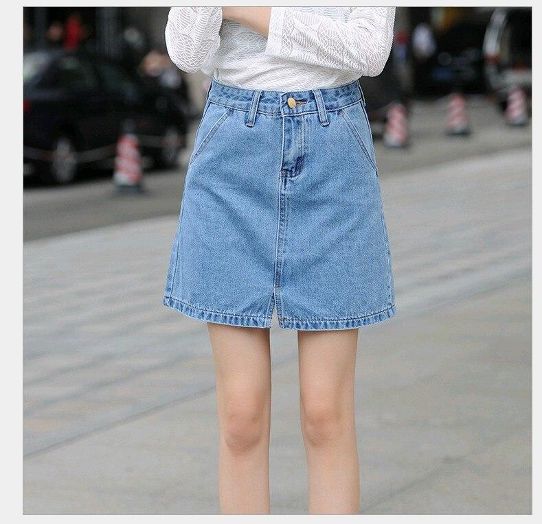 ᓂs Xxl Big Size Above Knee Mini Jean Skirts Womens Denim Skirts