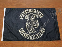 Сыны анархического флага 90*150 см цифровой печати полиэстер баннер с пользовательским любым флагом