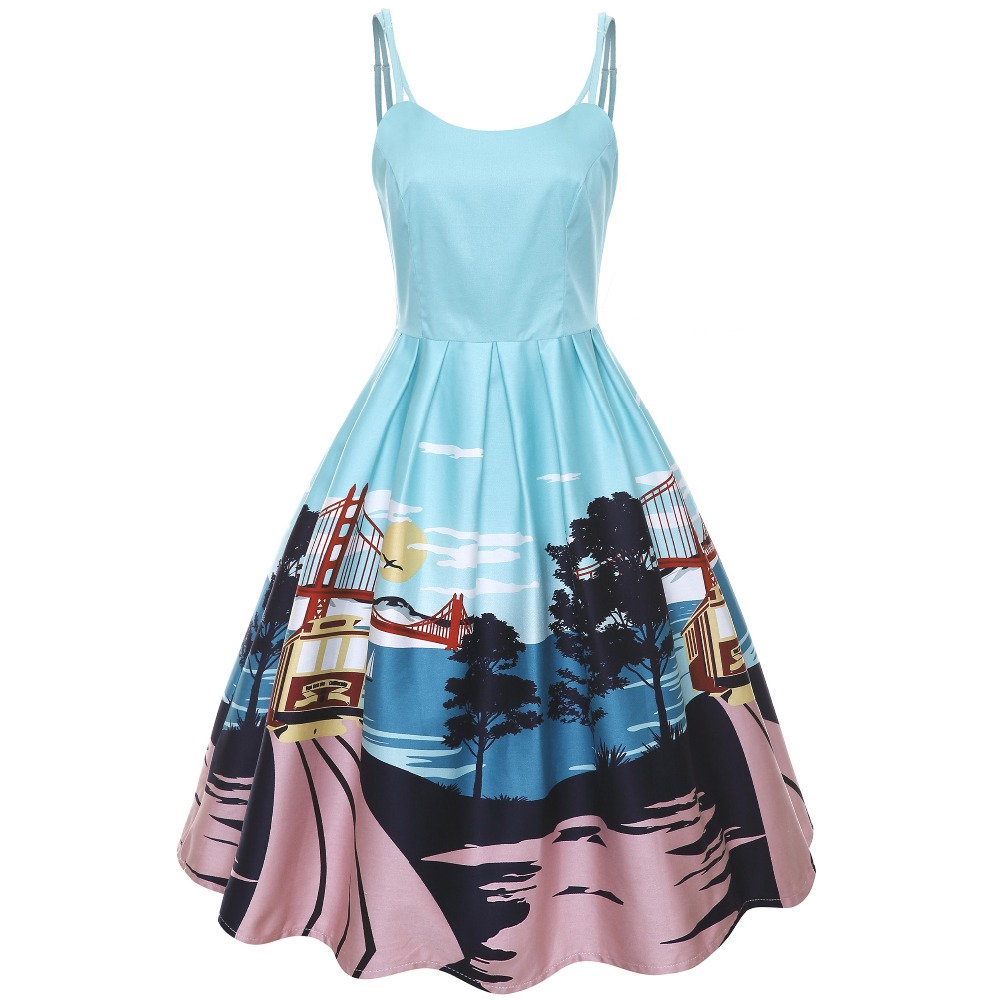 30 summer women vintage 50s Marilu San Francisco dress in Turquoise ...