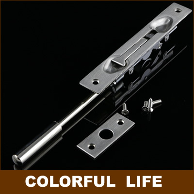 Thick, 304 stainless steel, hidden bolt, embedded security door bolt ,lock , Furniture Hardware