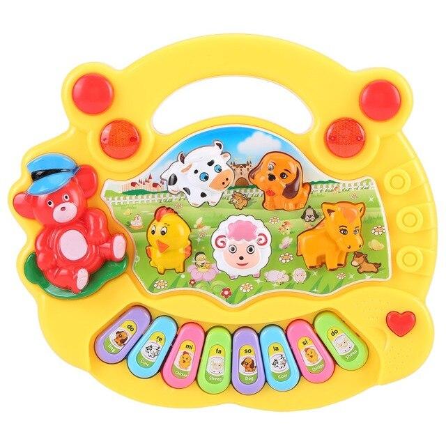 2019 Горячая продажа музыкальный инструмент Детские игрушки для малышей животное пианино, воспроизводящее звуки животных с фермы развивающие Музыкальные Развивающие игрушки для детей подарок