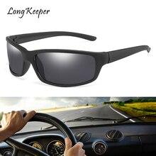 Longkeeper Square Sunglasses Polarized Men Driving Glasses Women Sun Retro Anti-glare Woman Black Gafas de sol Goggles