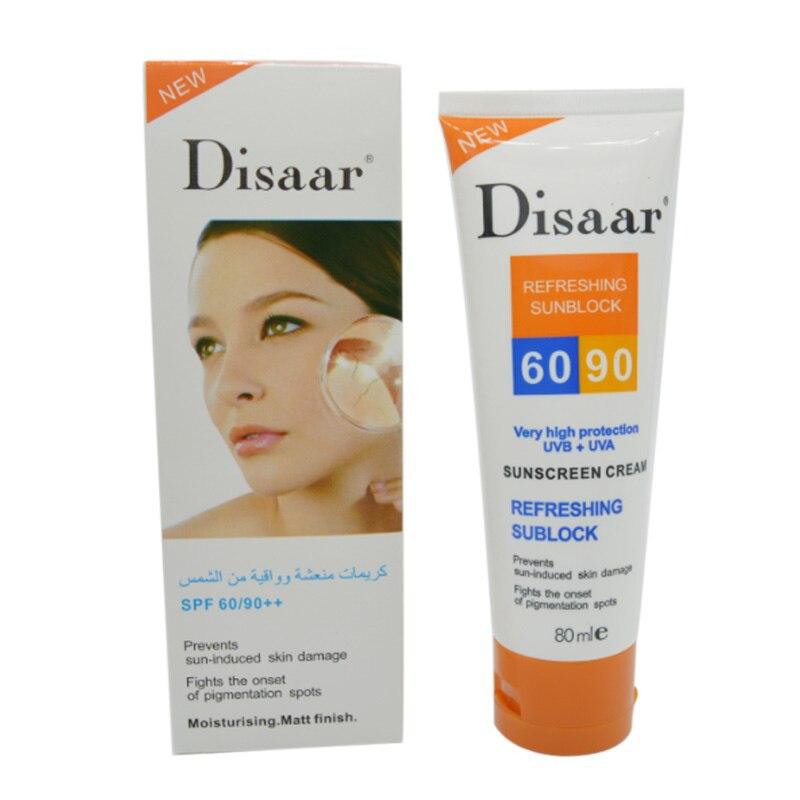 disaar sunscreen cream SPF 50 moisturizing skin protect sunblock 80g face font b care b font