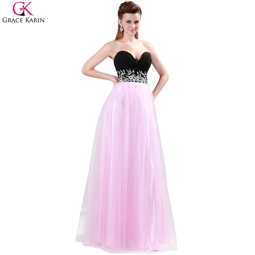 Vestidos de fiesta negro con rosa – Catálogo de fotos de vestidos ...