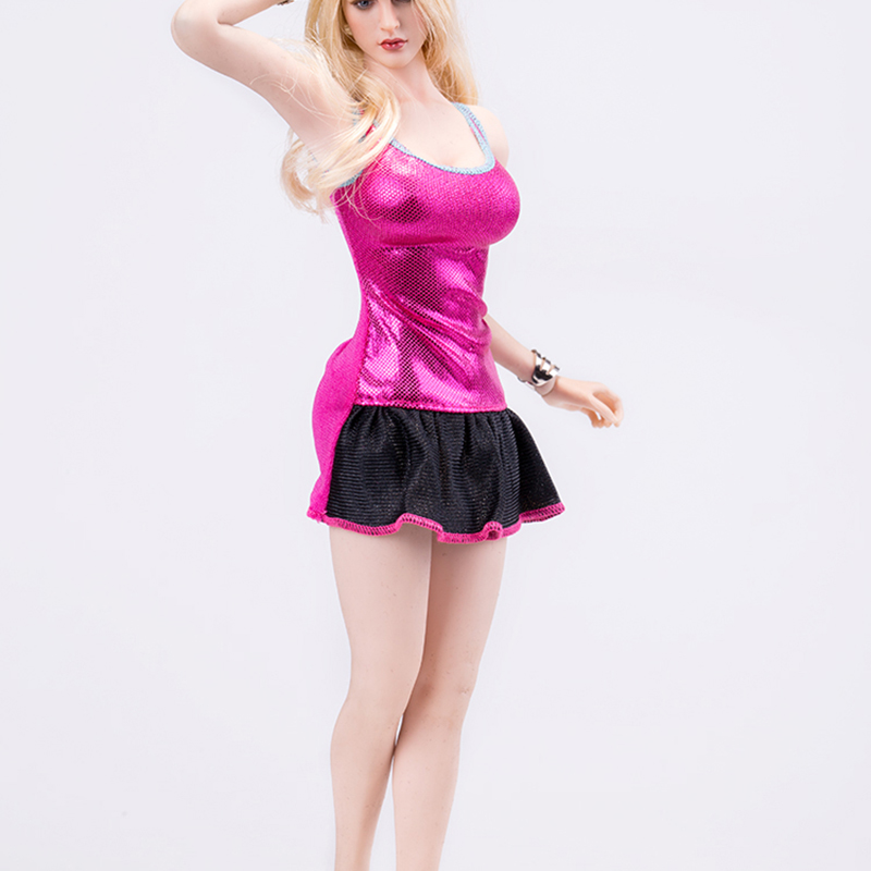 32c2ec4a1bf 1 6 Scale Accessories Clothing Sexy Rose Sling dress NO.8 Mini Skirt Fit