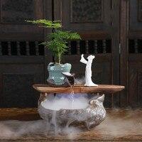 Творческий китайский стиль фонтан фэн-шуй lucky гостиная увлажнитель воздуха для офиса домашние мягкие украшения ремесла украшения