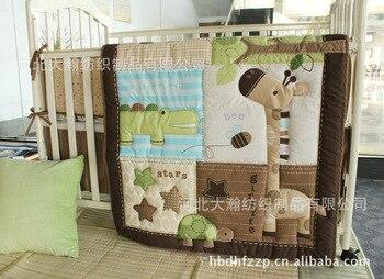 Акция! 6 шт 130*70 см кроватки детские постельные принадлежности для детской кроватки Ropa De Cama бампер для кроватки/одеяло/простыня