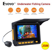 Eyoyo F05 4 3 LCD HD 1000TVL 20m Underwater Camera Video 8pcs Infrared LED Fish Finder