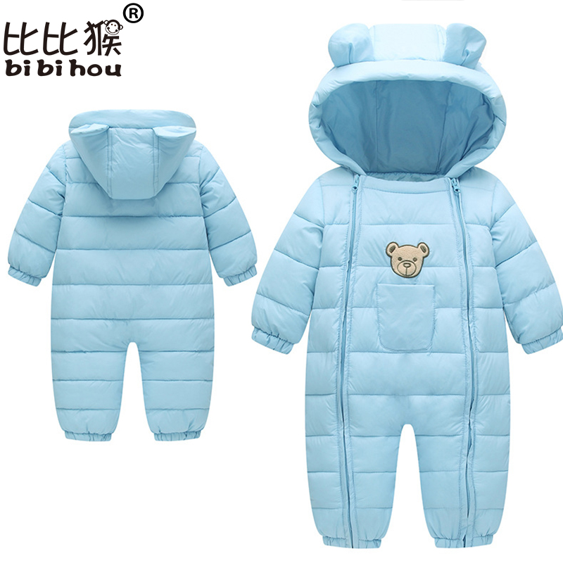 Winter Baby Rompers Bear Girls Boys Clothes Hooded Baby Boys Rompers Cotton-padded Jumpsuits Infants Kids Winter Clothes winter baby rompers bear girls boys clothes hooded baby boys rompers cotton padded jumpsuits infants kids winter clothes