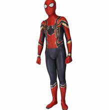Фотография Halloween  3D Design Printting  Spandex  Homecoming Spiderman  Spiderman cosplay Costume with Eye Lenses