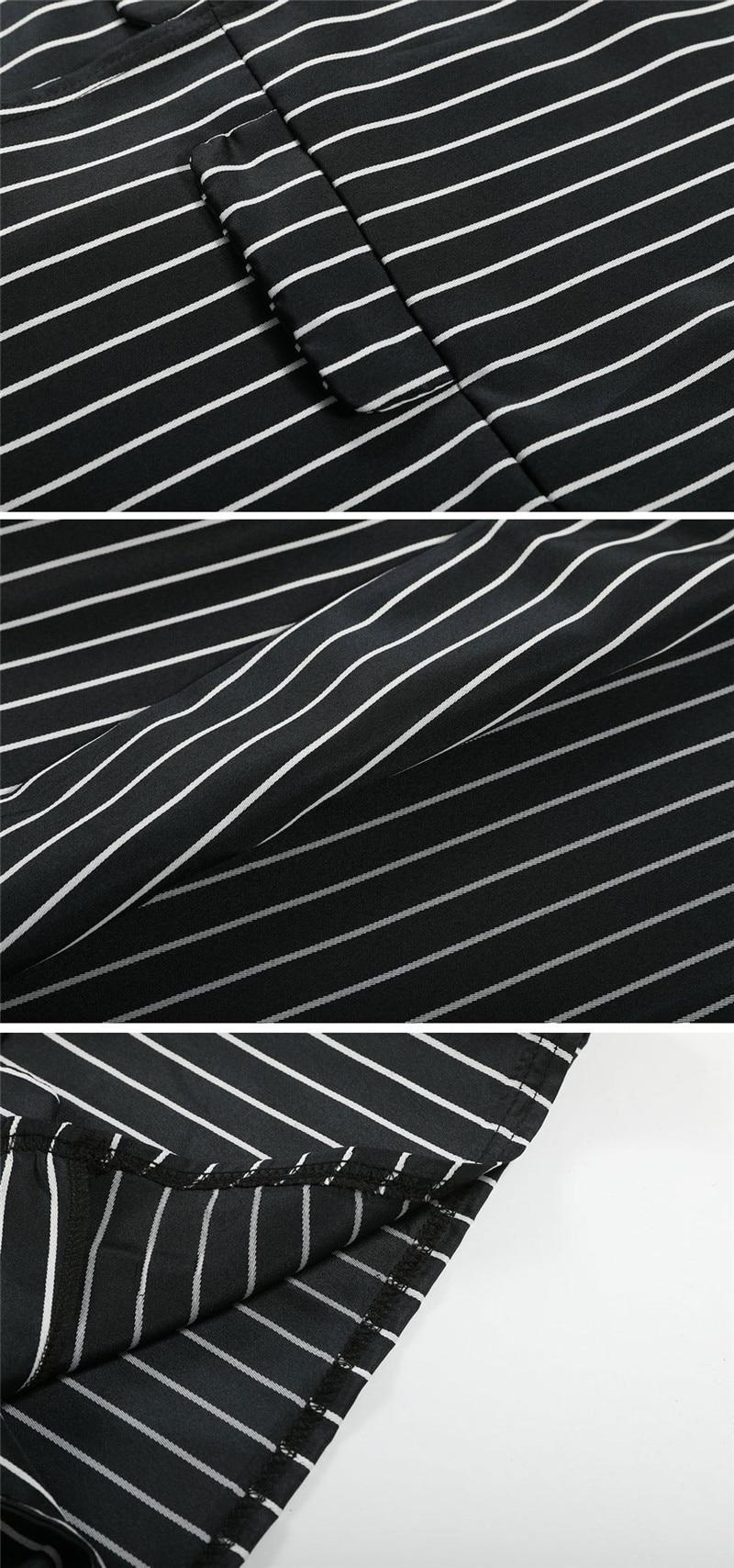 women fashion striped blazer suits-5