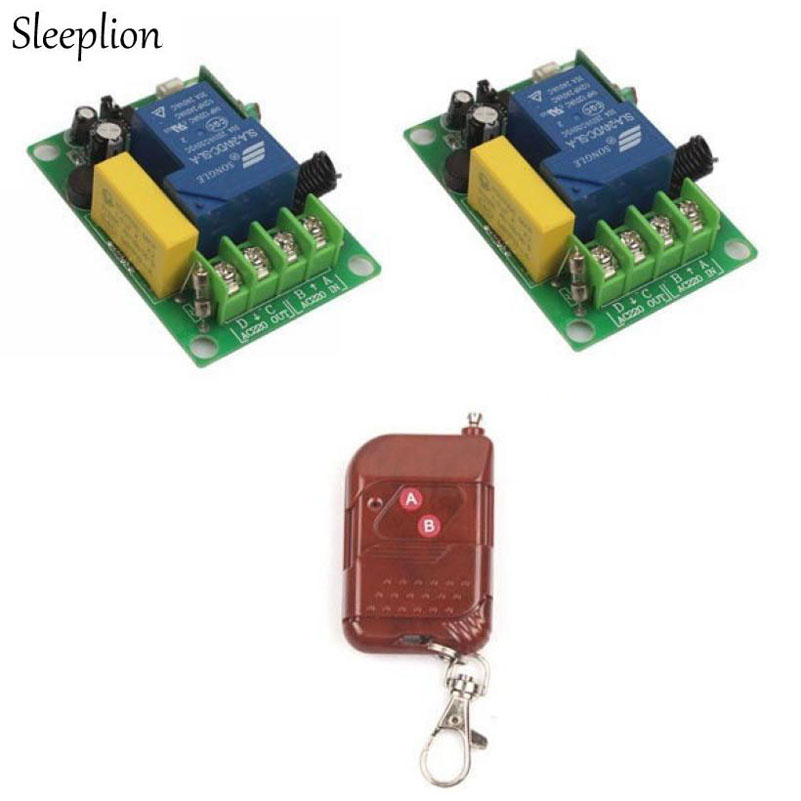 Sleeplion AC 220V 30A Relay 1 CH 1CH RF Wireless Remote Control Switch System 1/2/3 Transitter Receiver Module Circuit Board ac 380v 63a 3 pole 2 knife switch circuit control opening load switch