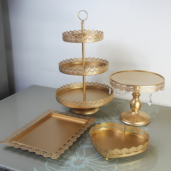 4 pieces cupcake stand gold wedding party decoration supplier baking dinner/party baking tool