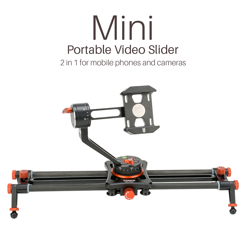 2 in 1 Mini Portable Phone Slider with Phone Holder Mount Camera Video Track Dolly Slider Rail System for Nikon Canon DSLR цена и фото