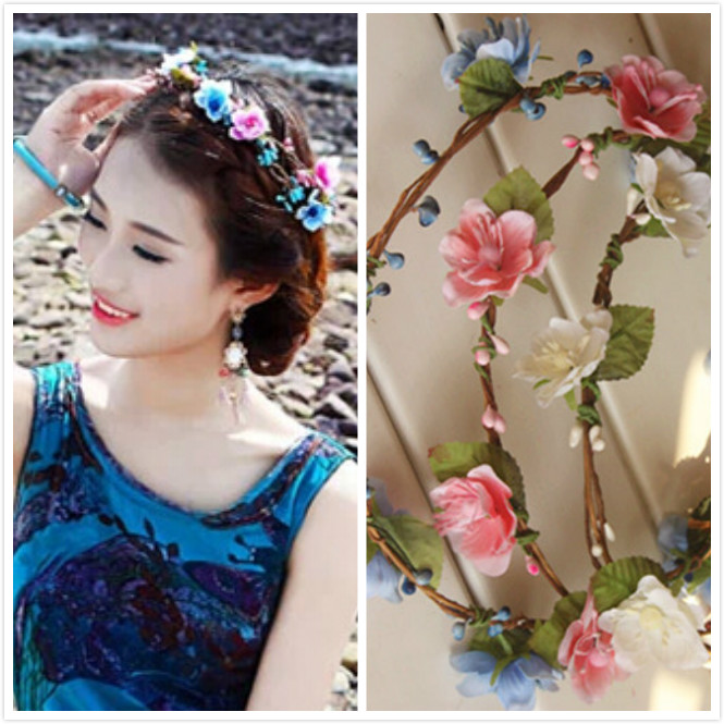 1x Hair Wreath Flower Girl  Wedding Wreaths in Many Different Colors * Free Shipping*