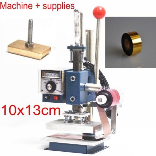 10x13 folha de hot stamping maquina impressora folha combo com folha de rolo e molde personalizado