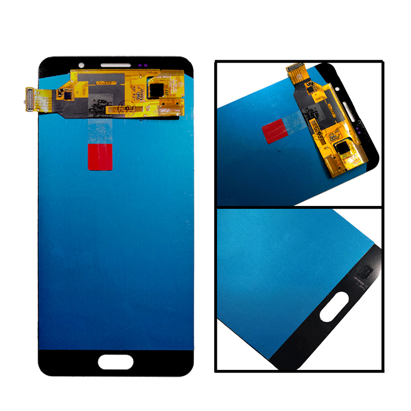Image 2 - AMOLED for SAMSUNG Galaxy A7 20165.5'' LCD Monitor LCD A7100 A710F A710 LCD Touch Screen Digitizer Replacement Kit Free Tool-in Mobile Phone LCD Screens from Cellphones & Telecommunications