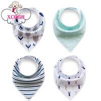 XCQGH Baby Bibs Soft Cotton Baberos Bandana Feather Triangle Baby Boy Girl Bibs Newborn Tnfant Toddler