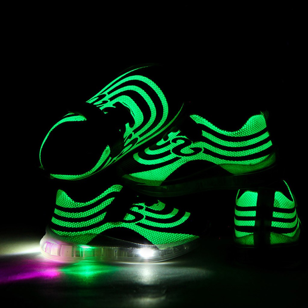 2020 New Breathable Children Kid Baby Girls Boys Mesh Led Luminous Sport Run Sneakers Casual Shoes Fashionable Kids Shoes Autumn