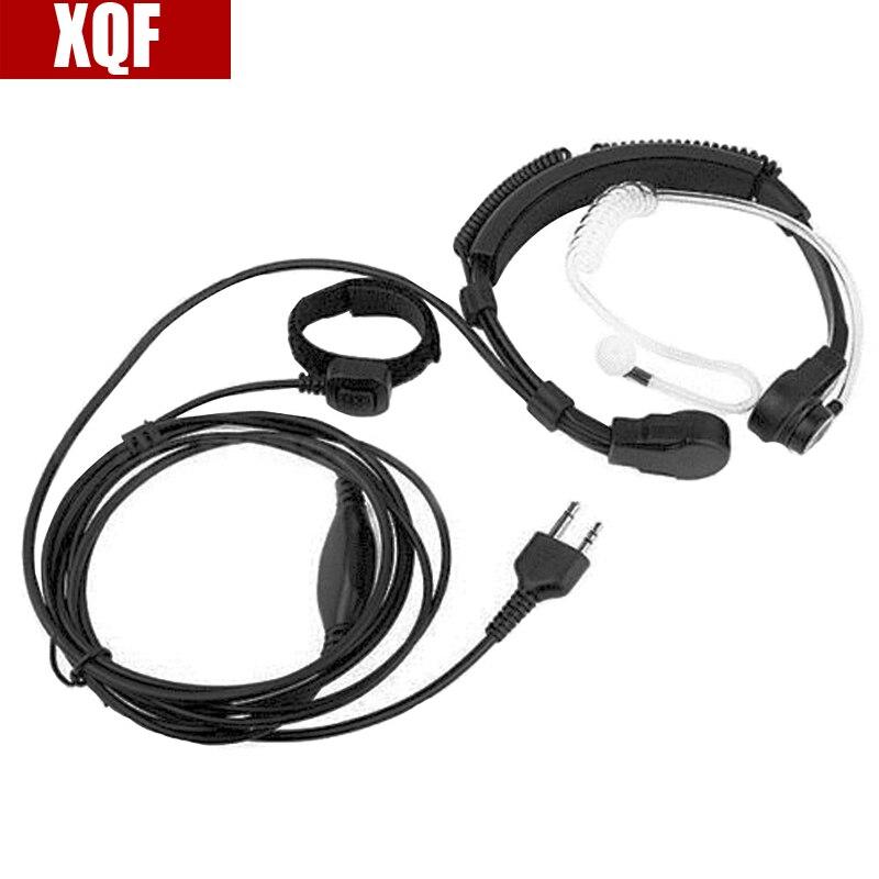 ΞXqf throat MIC micrófono PTT auricular para Midland lxt210 jamón ...