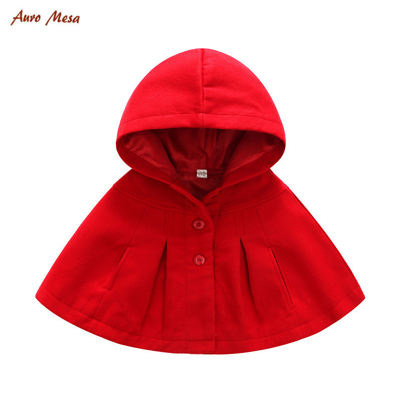 цена на New Winter Fashion Baby Coats Boys Girl Smocks Outerwear Baby Cloak Jumpsuits Children's Clothing Poncho Cape Jacket Red cloak