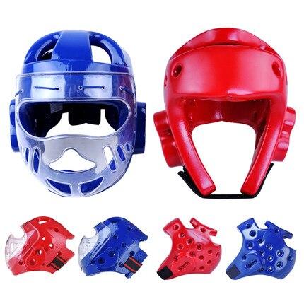 Для взрослых и детей каратэ шлем фитнес тхэквондо шлемы WTF протектор головные уборы с маска на лицо полный защитной поддержки
