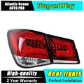 A & T Estilo Del Coche para Chevrolet Cruze Luces Traseras Sonar de Taiwán Cruze LED DRL + Freno de Cola Trasera de La Lámpara + parque + luces led de Señal