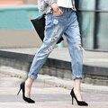 Jeans rasgado Para As Mulheres Buraco Feminino Jeans Mulher Calças Skinny Harem Pants calças Soltas Mendigo Plus Size Mulheres calças de Brim JN817