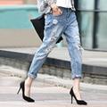 Ripped Jeans For Women Female Hole Jeans Woman Skinny Pants Loose Harem Pants Beggar Plus Size Women Jeans JN817
