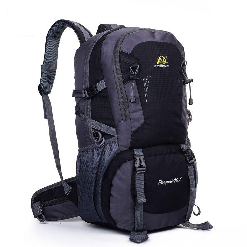 ФОТО 2016 Men's Backpack 40L Nylon Rucksacks Shoulder Bag Pack Road Bags Knapsack Backpack Travel Bag J04