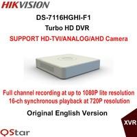 Hikvision Original English Version DS 7116HGHI F1 16ch 720P Turbo HD DVR Support HD TVI Analog
