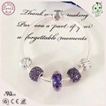 High Quality Famous Brand Design Silver Jewelry Noble Purple Series 925 Sterling Silver  Bracelet