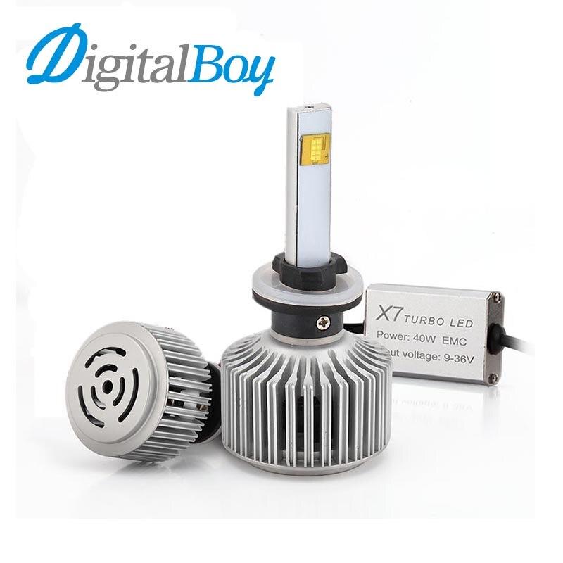 ФОТО Digitalboy 880/881 LED Headlight Car Bulbs 7200LM 80W Headlamp LED 6000K Car Conversion Kit Super Bright Automobile Front Lights