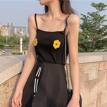 Summer Sexy Women Strap Tank Tops Fashion Floral Printed Camis Vest Femme Casual Backless Camisole For