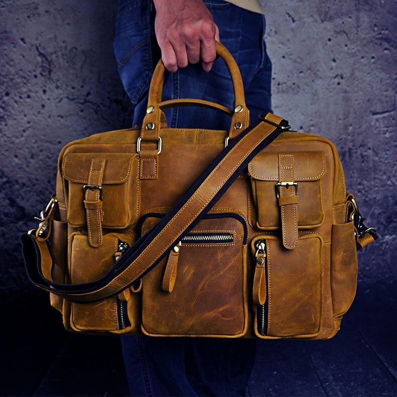 HTB1gkcAdSfD8KJjSszhq6zIJFXaR Original leather Men Fashion Handbag Business Briefcase Commercia Document Laptop Case Design Male Attache Portfolio Bag 3061-bu