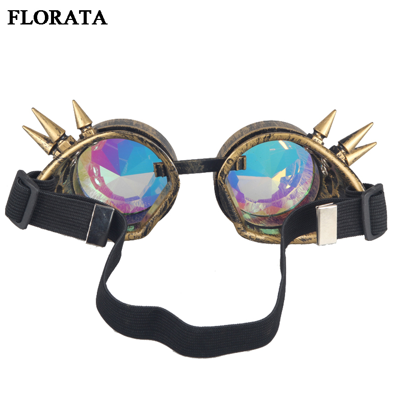 511fc27ac10 FLORATA Retro Unisex Goggles Steampunk Glasses Welding Cosplay Sunglasses  Vintage Victorian Eyewear 5 Colors-in Sunglasses from Apparel Accessories  on ...