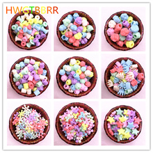 50pcs/lot Multicolour Acrylic Large Hole Beads for Children Jewelry Necklace Making Bracelets